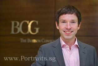 corporate lifestyle business portrait with company logo